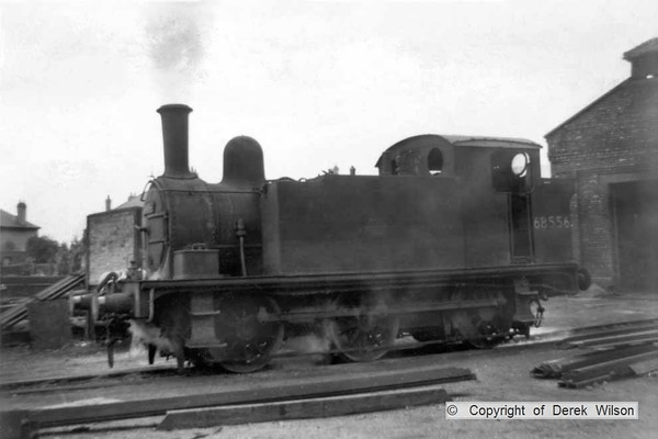 LNER (GER) J69 0-6-0T no. 68556 is seen on shunting duty at Clipstone colliery. This would have been allocated to Langwith (41J) at the time. Towards the end of steam various classes were used for these duties, most probably in poor condition & being replaced regularly.  circa 1960