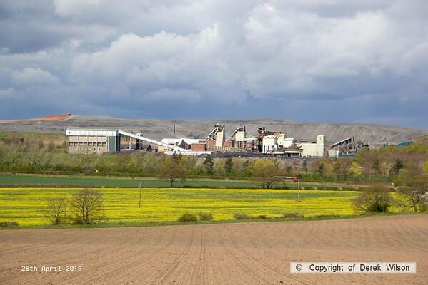 160425-038     A view of Thoresby colliery which closed last year. The spoil heaps are being landscaped, and the structures will soon be being dismantled.